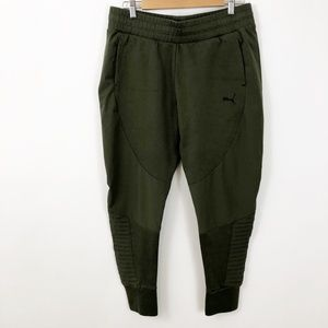 Puma Olive Green Jogger Sweat Pants Size L
